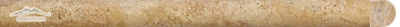 "Persian Gold Travertine Bullnose 3/4"" x 12"" Honed Molding"
