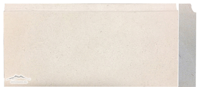 "Base Molding: Crema Lyon Limestone   6"" x 12"" x 1-1/4"" Honed"