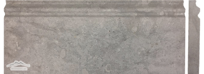 "Blue Lagoon Limestone 5"" x 12"" Base Molding Honed"
