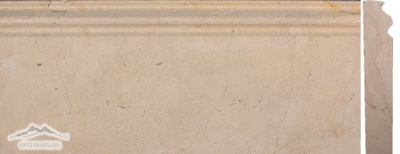 "Gold Lagoon Limestone: Base 5"" x 12"" Molding Honed"