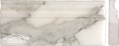 "Calacatta Gold Marble 5n"" x 12n"" x 1-1/4"" Base Molding Polished"
