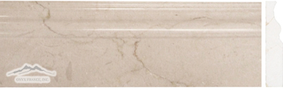 Cream Marfil Marble 5'' x 12'' Base Molding Polished
