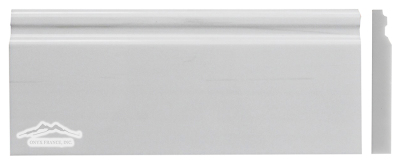 "White Elegant SELECT Marble Plaza Base Molding 5"" x 12"" Polished"