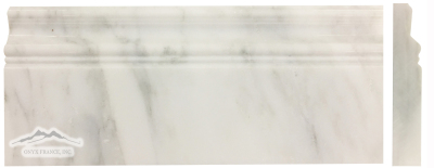 White Statuary Calacatta Marble 5'' x 12'' Base Molding Polished