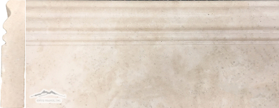 Durango Travertine 5'' x 12'' Base Molding Honed