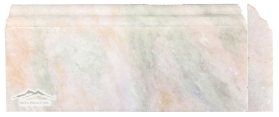 "Alba Chiara (Green Celadon) Onyx 5"" x 12"" Polished Base Molding"