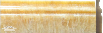 "Golden Honey Onyx Base 4"" x 12"" Molding Polished"
