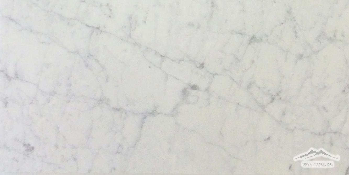 "White Carrara Venatino PREMIUM 18"" x 36"" x 3/8"" Tile Honed"