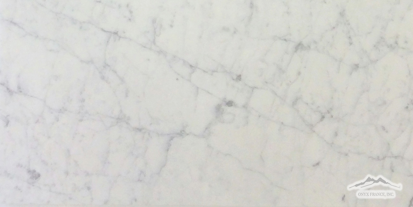 "White Carrara Venatino PREMIUM 18"" x 36"" x 3/8"" Tile Honed"