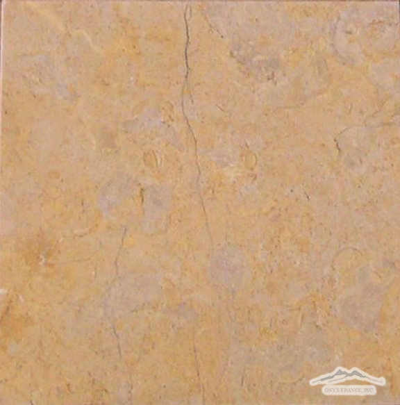 "Giallo Reale Marble 12"" x 12"" Tile Brushed"