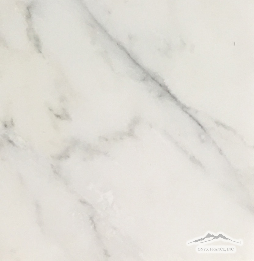 "White Statuary Calacatta Marble 12"" x 12"" Tile: Polished & Honed"