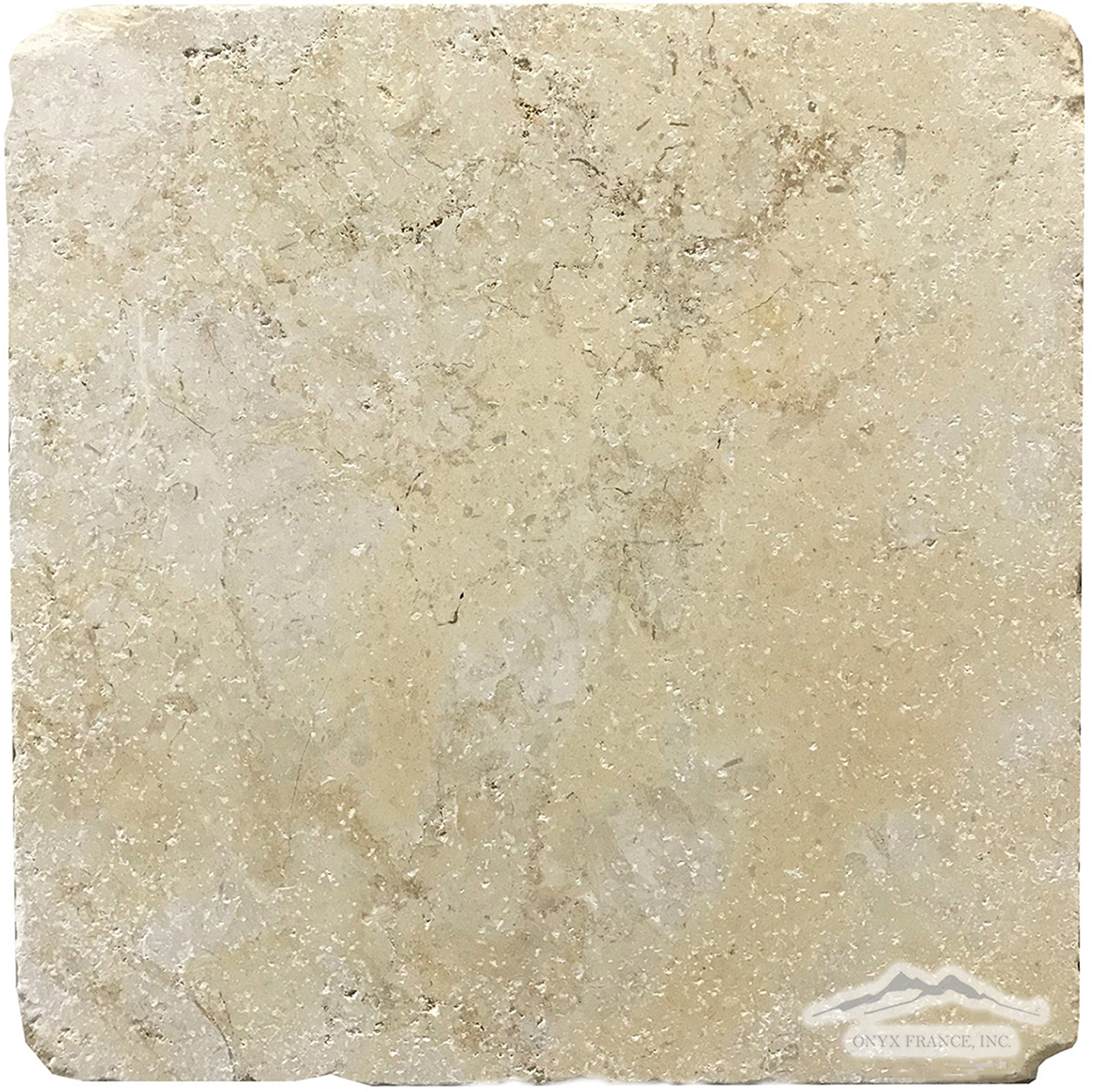"Jerusalem Gold Limestone 12"" x 12"" Tile Tumbled (also available in Honed)"