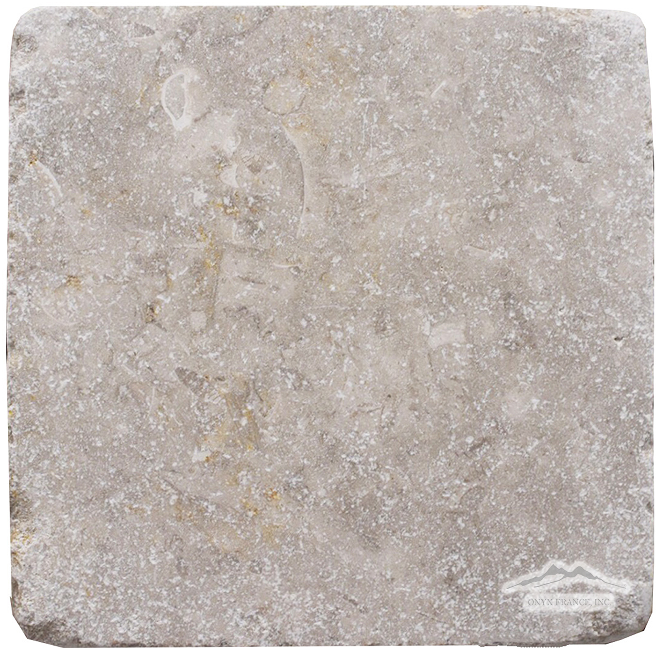 "Jerusalem Grey Limestone 12"" x 12"" Tile Tumbled"