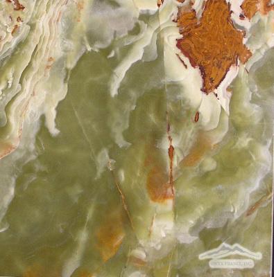 "Green Pistachio Olive Onyx 12"" x 12"" Polished"