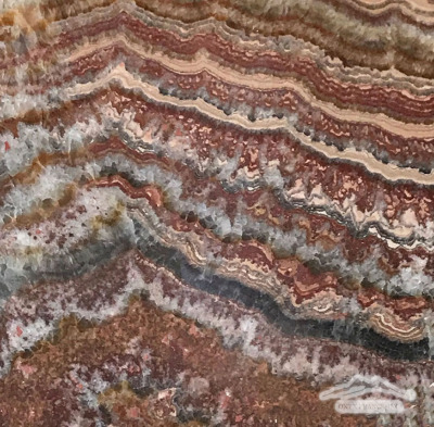"Red Sea Onyx 12"" x 12"" Tile Polished"