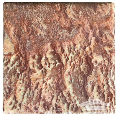 "Red Sea Onyx 18"" x 18"" Tile: Pillowed"