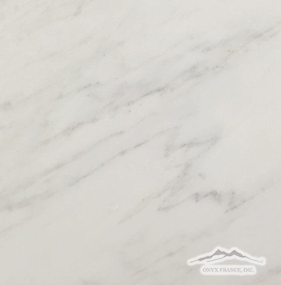 """White Statuary Calacatta Marble 18"""" x 18"""" Honed"""