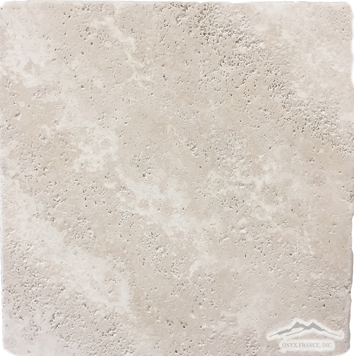 "Beige Antique Travertine 12"" x 12"" Tumbled"
