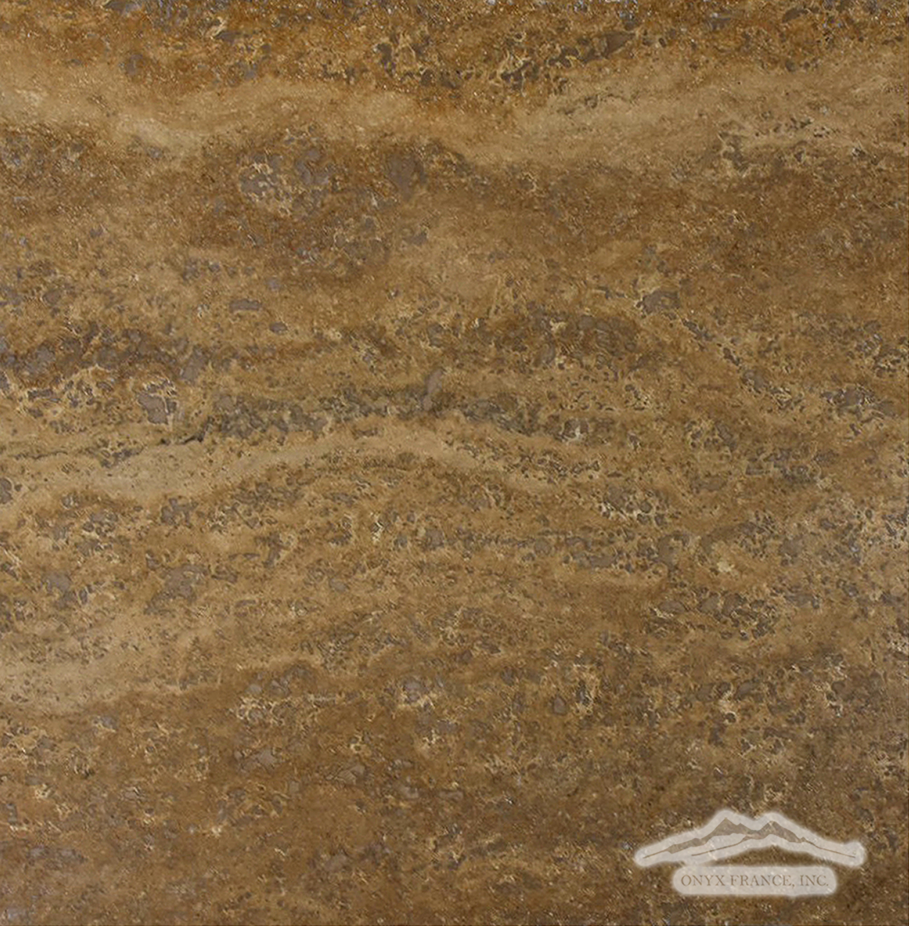 "Noce Travertine Vein Cut 12"" x 12"" Tile Polished"