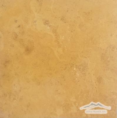 """Persian Gold Travertine 12"""" x 12"""" Honed"""