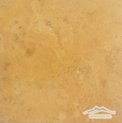 "Persian Gold Travertine 12"" x 12"" Honed"