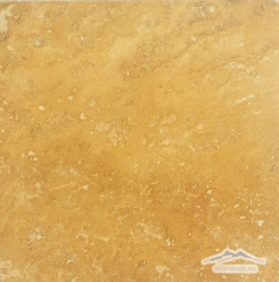"Persian Gold Travertine 12"" x 12"" Polished"