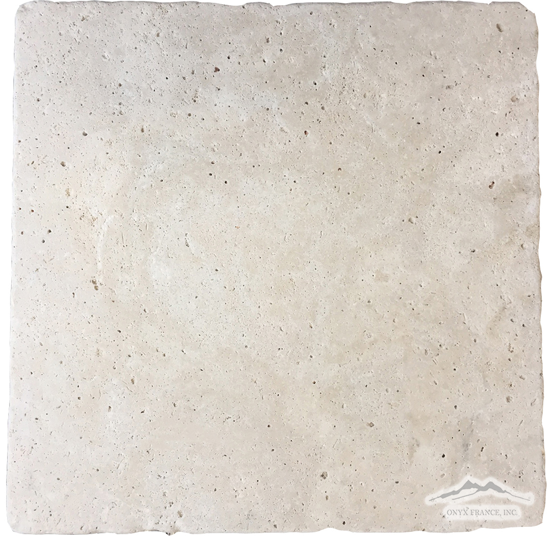 "Beige Antique Travertine 16"" x 16"" Tile Tumbled"