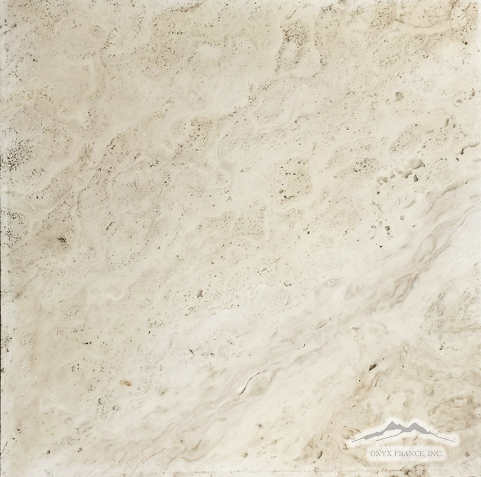 "Pearl Travertine 16"" x 16"" Tile Honed"
