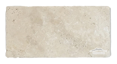 "Beige Antique Travertine 6"" x 12"" Tumbled"