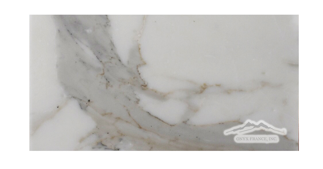 "Calacatta Gold Marble 6"" x 12"" Honed & Polished"