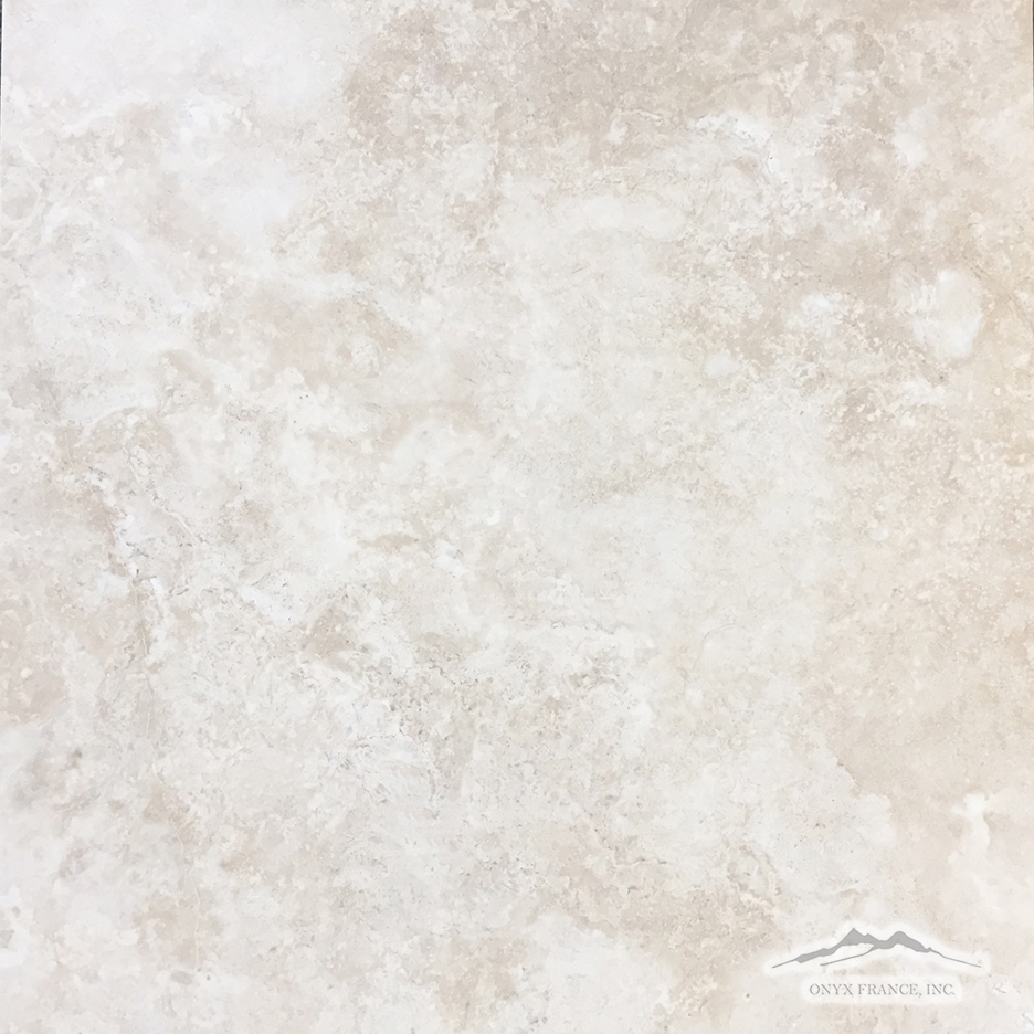 "Beige Antique Travertine 16"" x 16"" Tile Honed"