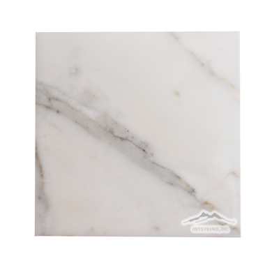 "Calacatta Gold Marble 6"" x 6"" Tile: Soft Touch (Satin Finish)"