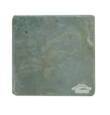 "Green Fantasia/Green Royal Blue Marble  6"" x 6"" Tile Smooth Tumbled"
