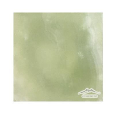 "Green Persian Pistachio Onyx 6"" x 6"" Polished"