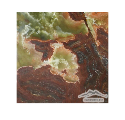 "Green Pistachio Multicolor 6"" x 6"" Tile: Honed & Polished"