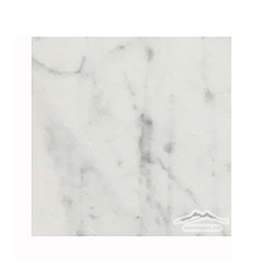 "White Carrara Venatino Premium 6"" x 6"" Honed"