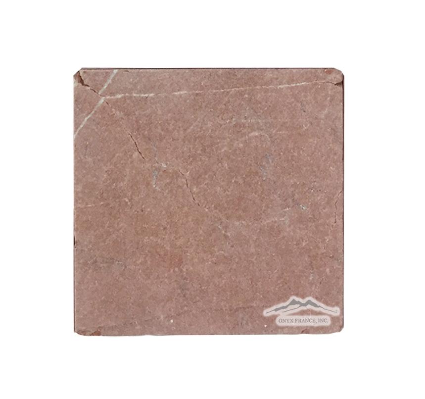 """Rojo Alicante Marble 6"""" x 6"""" Antiqued"""
