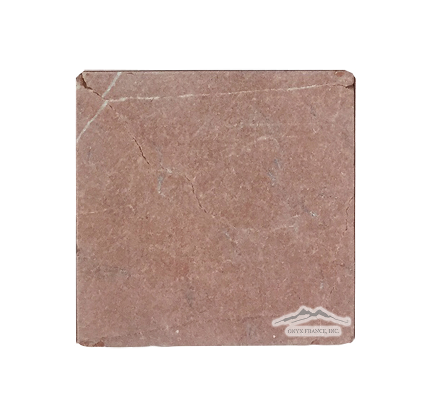 "Rojo Alicante Marble 6"" x 6"" Antiqued"