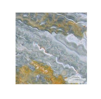 """Blue Aqua Gold Onyx 6"""" x 6"""" Polished"""