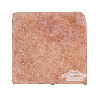 "Peach Travertine 6"" x 6"" Tile Tumbled"