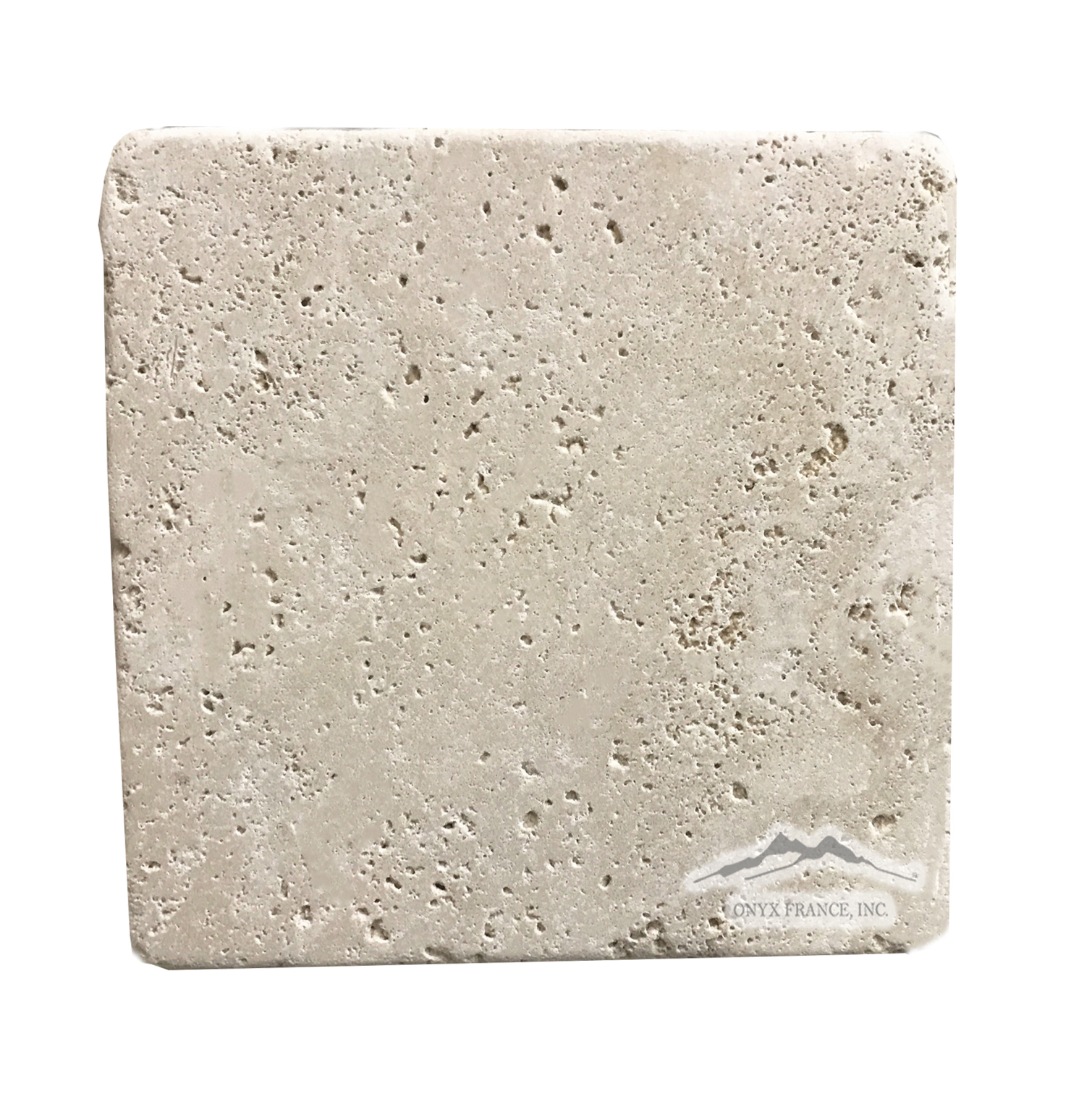 "Beige Antique Travertine 6"" x 6"" Tumbled"