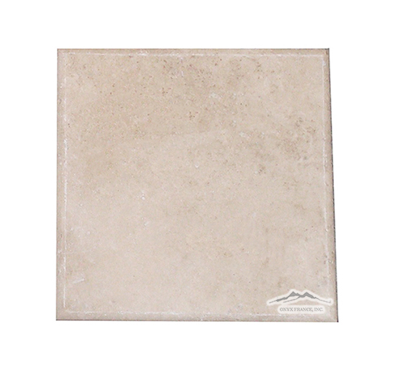 Durango Travertine 6'' x 6'' Pillowed, Honed w/ROLLED EDGE