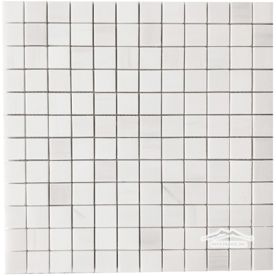 "White Elegant SELECT Marble 1"" x 1"" Mosaic Polished"