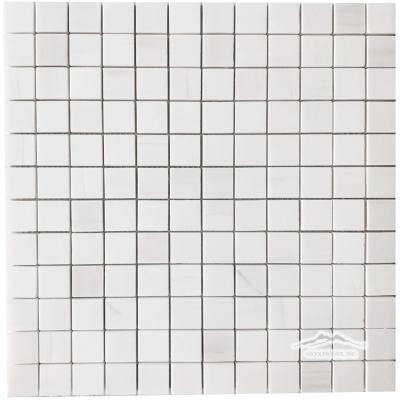 """White Elegant SELECT Marble 1"""" x 1"""" Mosaic Polished"""