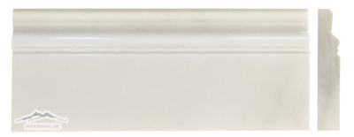 "White Silk Marble Base: 5"" x 12"" Molding Polished"