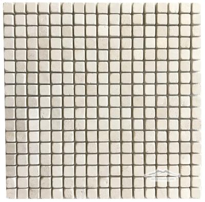 "Crema Lyon 5/8"" x 5/8"" Mosaic Tumbled"