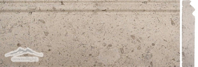 "Gascogne Blue/Beige Limestone Base 5"" x 12"" Molding Honed"