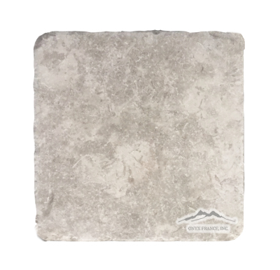 "Jerusalem Grey Limestone 8"" x 8"" Tile Tumbled"