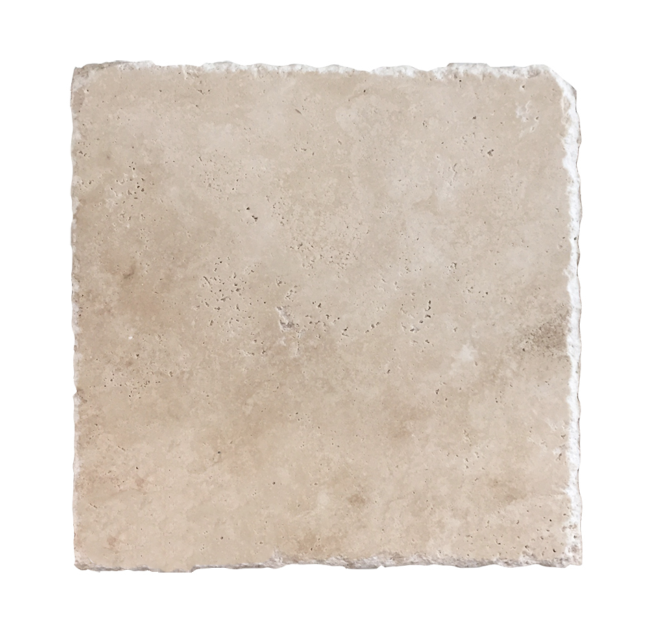 "Durango Travertine 8"" x 8"" Cobbled, Honed, & Unfilled"