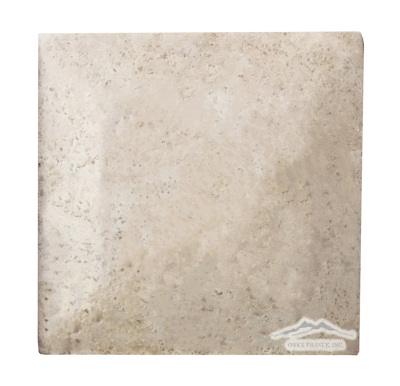 "Durango Travertine 8"" x 8"" Pillowed, Honed, & Cushioned"